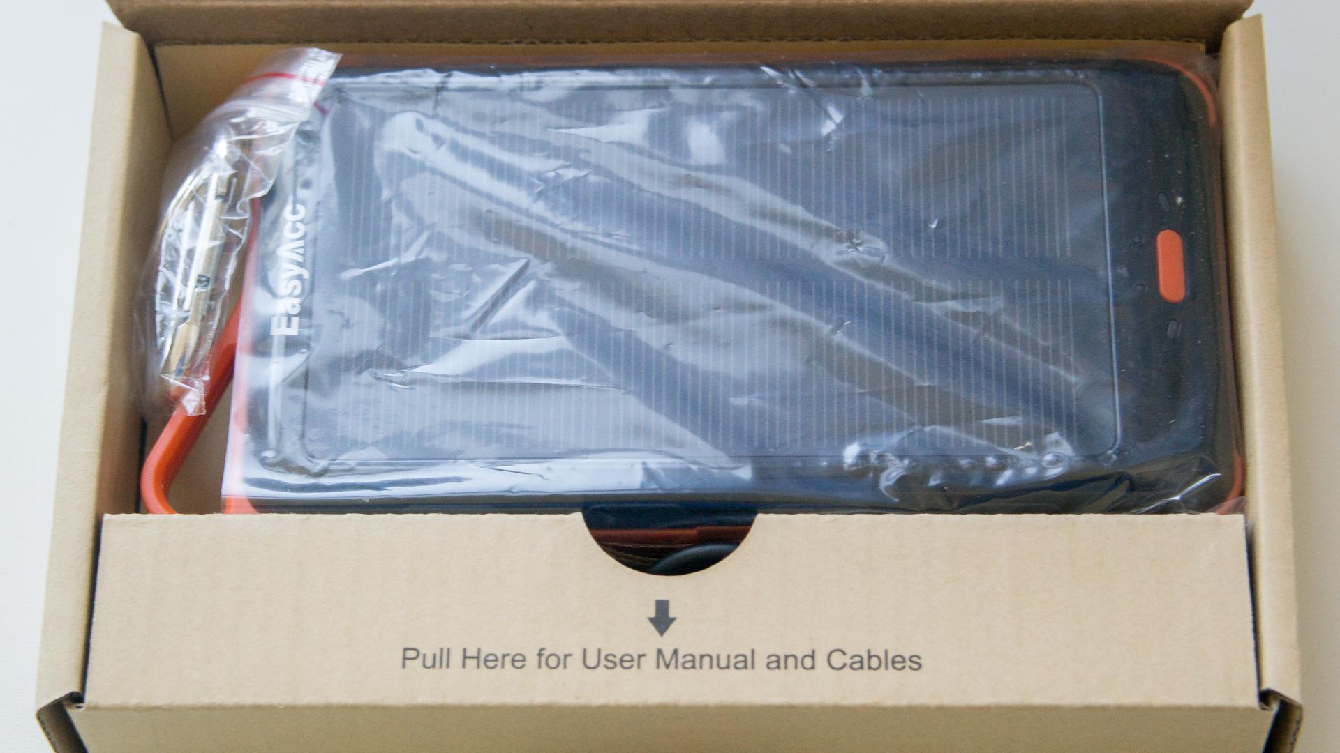 Review EasyAcc 15000mAh Solar Ladegerät Power Bank Dual USB