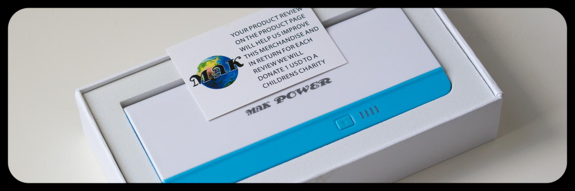 MAK POWER 10000mAh Brilliant Dual USB (2.1A / 1.5A Output) Bewegliche Energien-Bank-externes Ladegerät