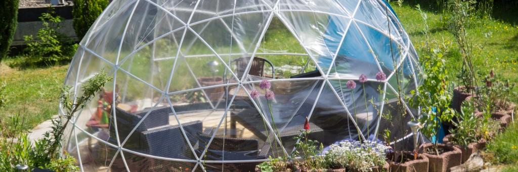 Garden Igloo garten Zelt iglu natur Gewächshaus Pavillon FOUR SEASONS Überwinterungsmöglichkeit