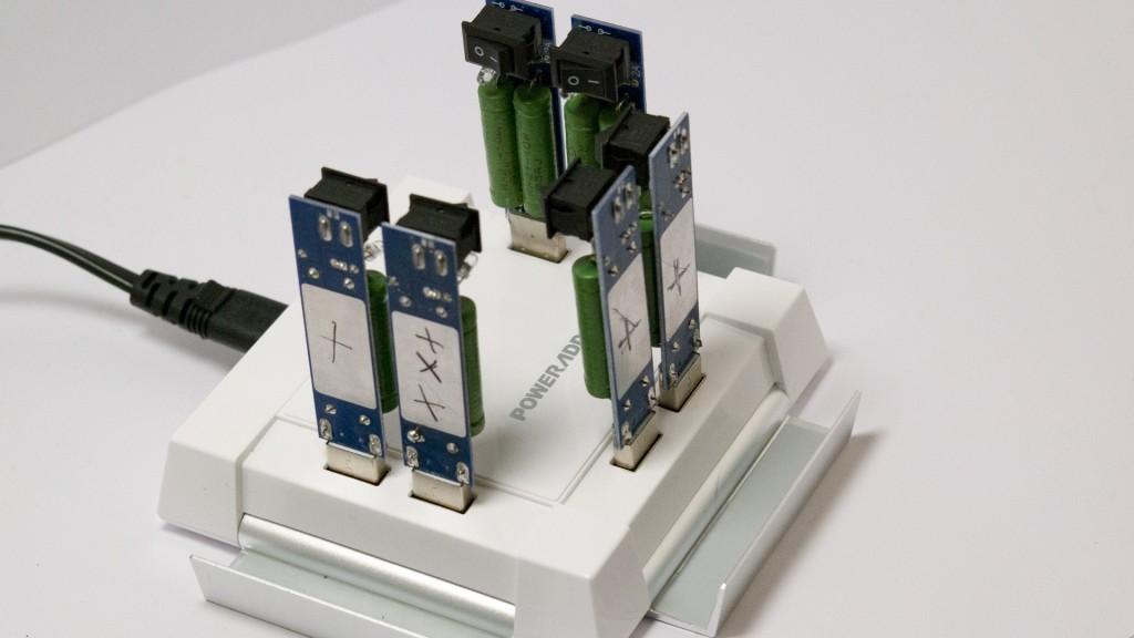 Ladestation Poweradd Ladegerät USB iPhone 60W Weiß