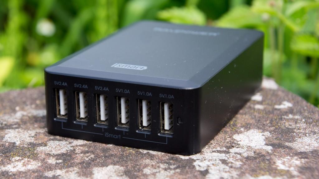 Review RAVPower 50W 5V / 10.2A 6-Port USB Ladegerät mit iSmart Technologie Test