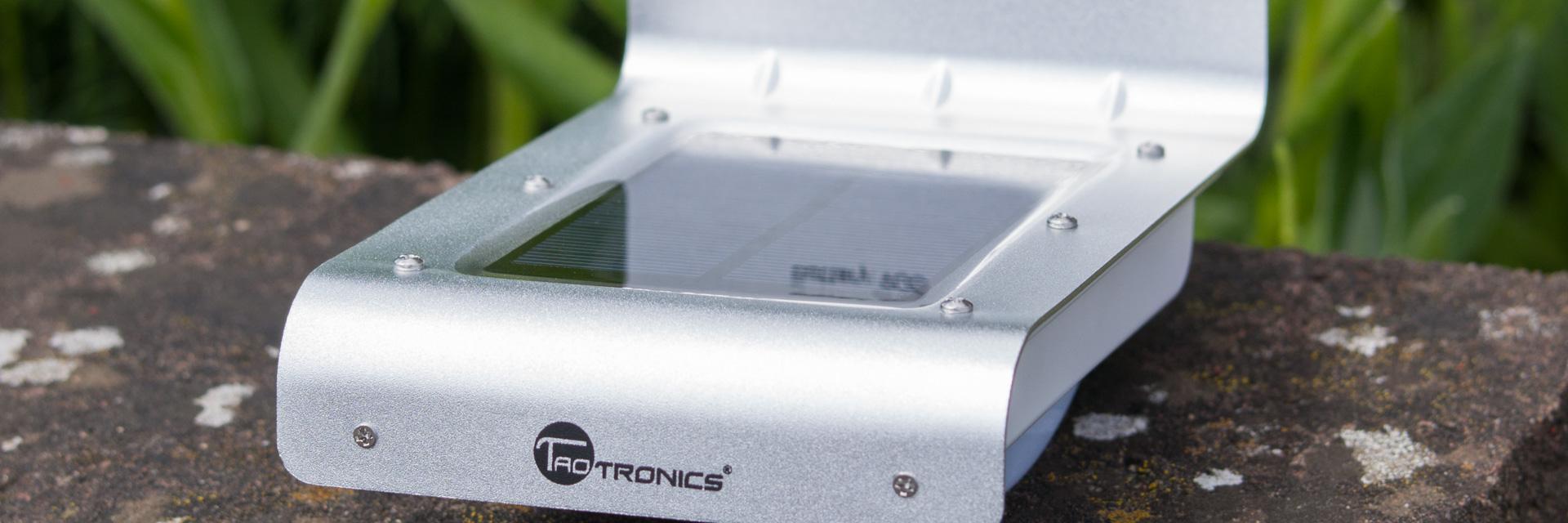 Test TaoTronics LED Solarleuchte Aluminium