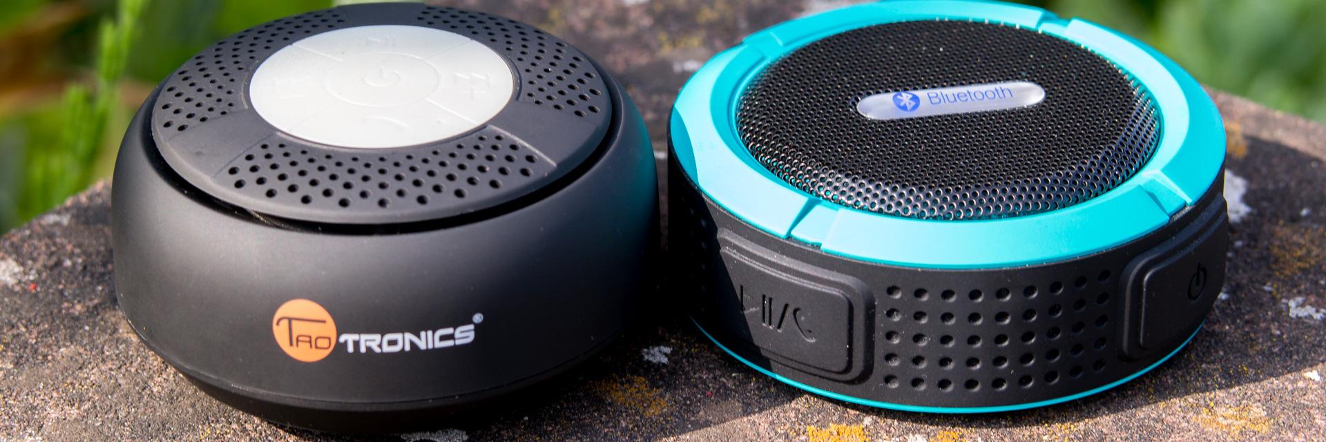Wassergeschützte Bluetooth Lautsprecher von Patuoxun und TaoTronics im Vergleich