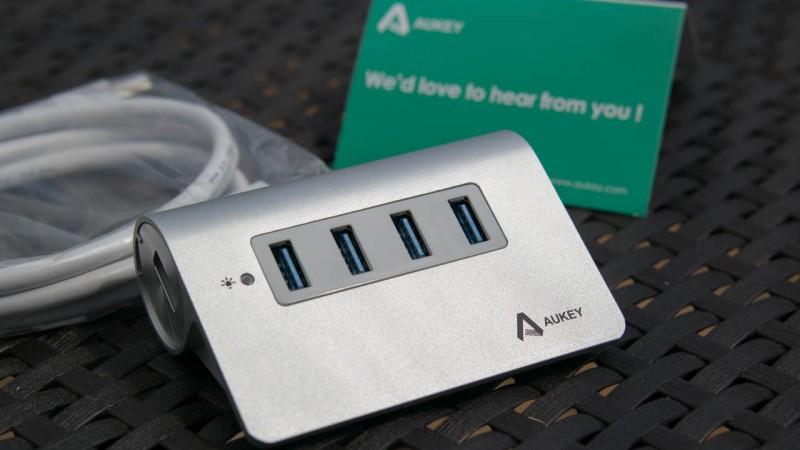 Edler USB HUB von Aukey im Test Aukey M3H4 3.0 Review Test Alumi
