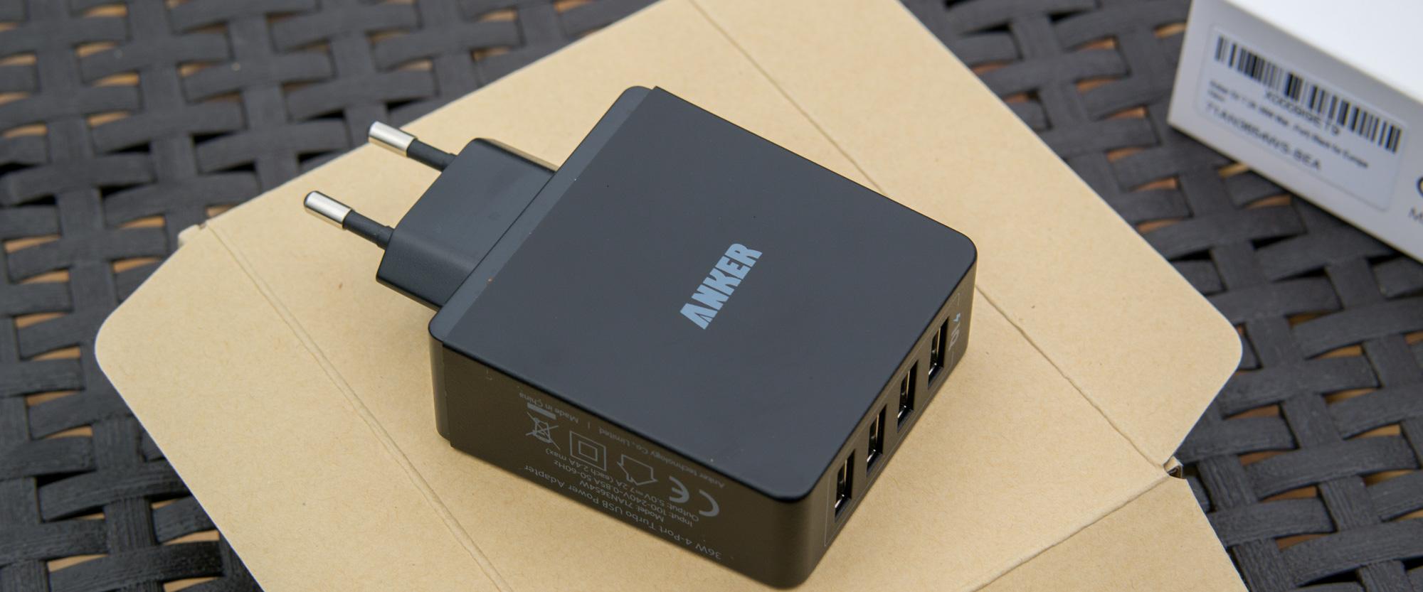[Review] Anker 36W 5V / 7.2A 4-Port USB Ladegerät