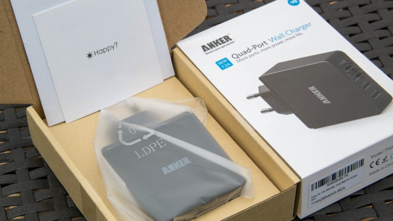 Anker 36W 5V 7.2A 4-Port USB Ladegerät Test Review