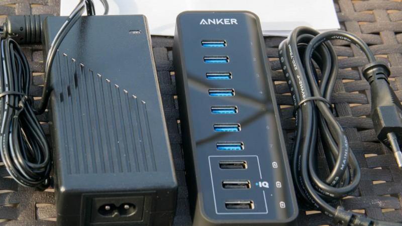 Anker 60W 7-Port USB 3.0 Datenhub Test Review PowerIQ