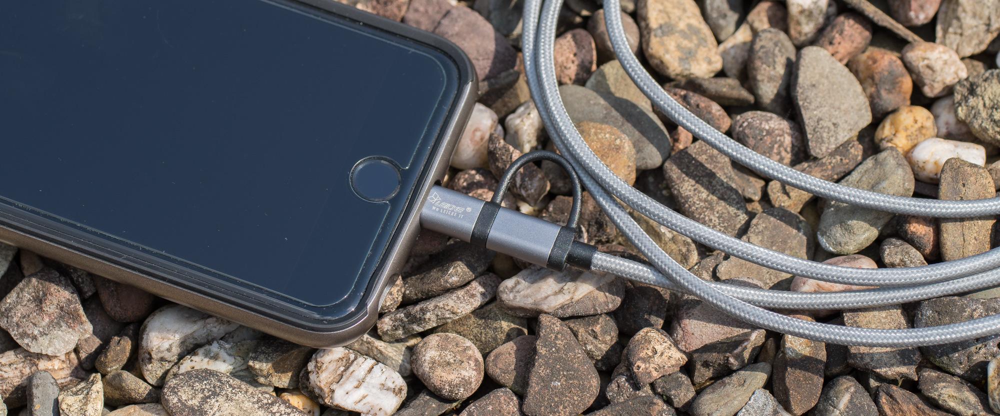 KanaaN Apple Lightning MFi USB Kabel | 2 in 1 mit Lightning und MicroUSB | MFi Zertifiziert | 1.8m