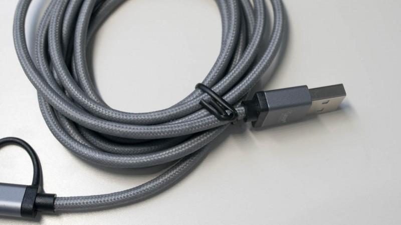 Licke KanaaN Apple Lightning MFi USB Kabel 2 in 1 mit Lightning