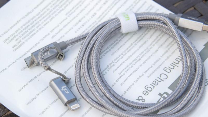 MFI zertifiziertes 2 in 1 Kabel von LP Lightning Stecker Micro U