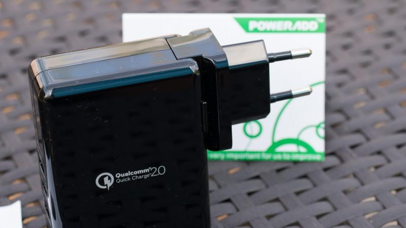 Poweradd Qualcomm Quick Charge 2.0 Ladegerät im Test Review QC2.0 Netzteil