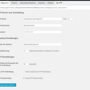 WordPress Backup aufs heimische Synology NAS erstellen