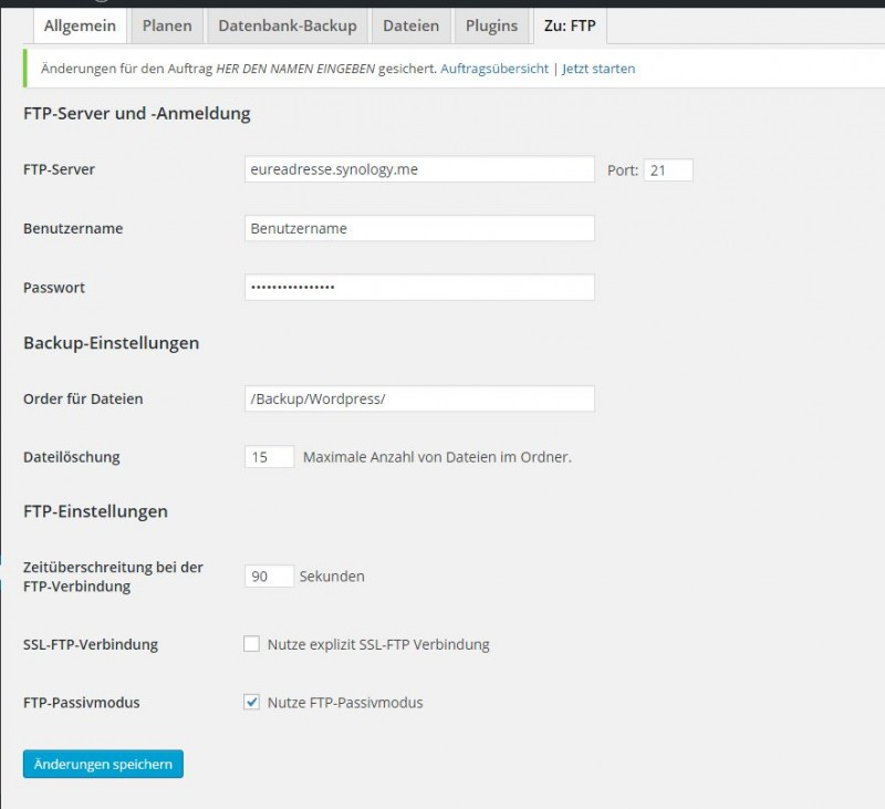 Wordpress Backup aufs heimische Synology NAS erstellen (7)