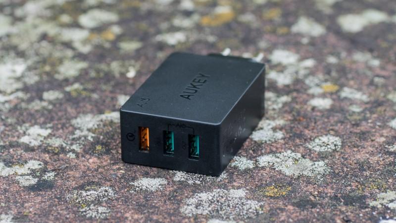 AUKEY PA-T2 3-Port USB Ladegerät Qualcomm Quick Charge 2.0 Support Test review Netzteil QC2.0 Schnelladegerät