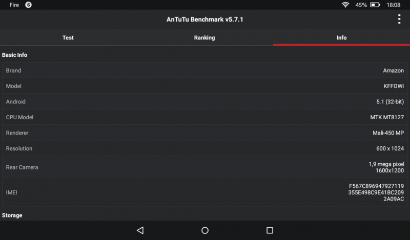 Benchmarks des Amazon Fire Tablets 7 Zoll MTK MT8127 Mali-450MP Test Antutu Benchmark (3)