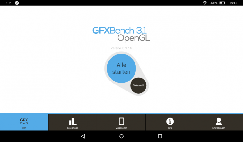 Benchmarks des Amazon Fire Tablets 7 Zoll MTK MT8127 Mali-450MP Test GFXBench 3.1