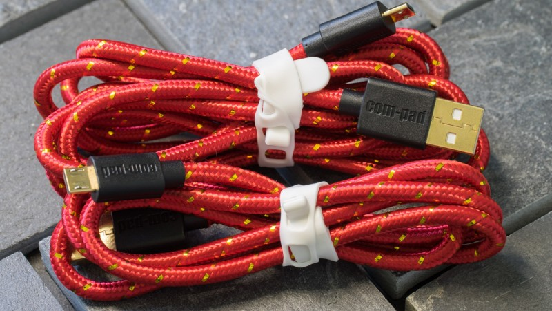 COM-PAD Premium Micro USB Kabel Nylon ummantelung Review Test Ladekabel