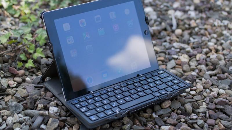 Faltbare Bluetooth Tastatur EC Technology Test Review Portalbel mitnehmen Unterwegs Tablet IOS Android Windows