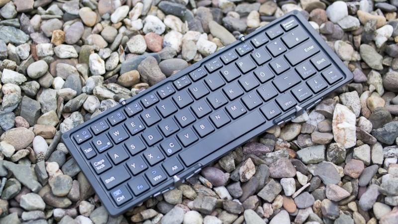 Faltbare Bluetooth Tastatur EC Technology Test Review Portalbel