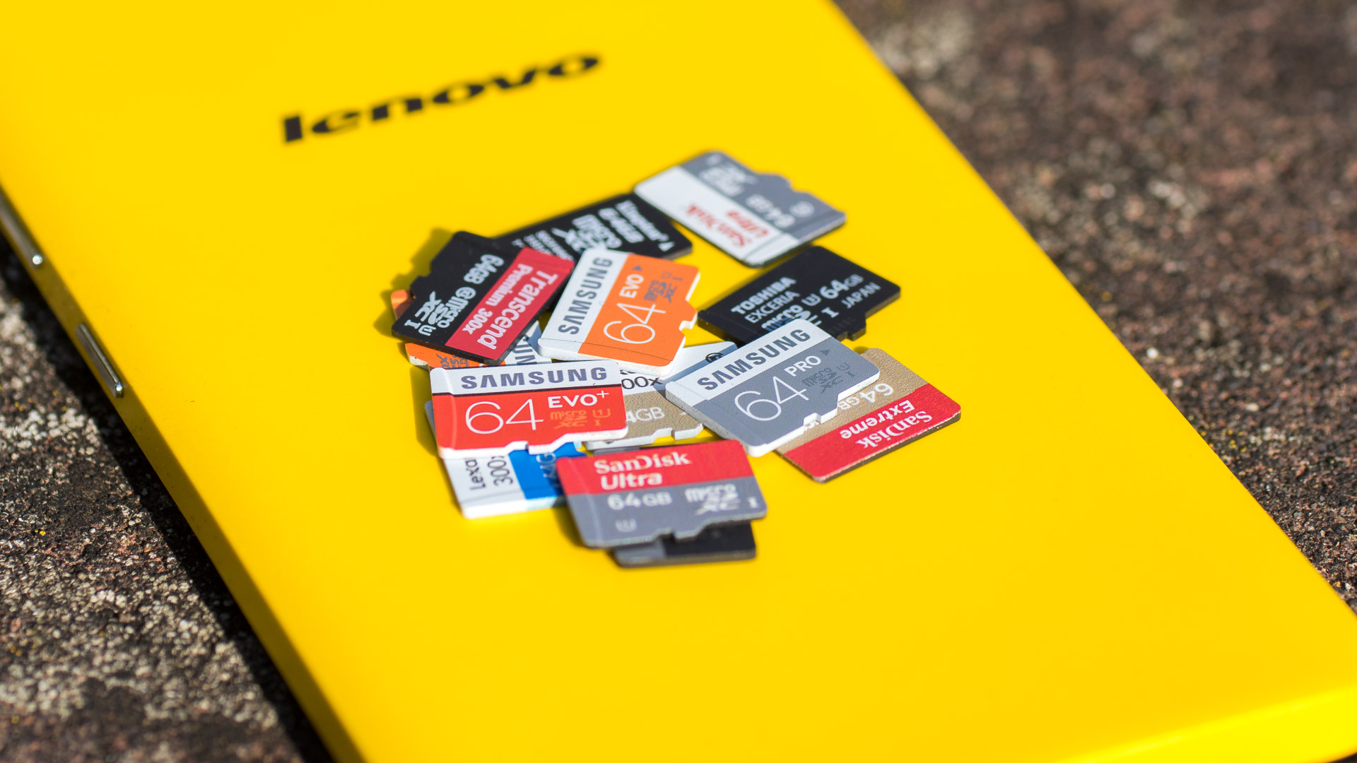 13x 64GB MicroSD Speicherkarten im Test von Samsung Lexar SanDisk Toshiba Kingston Transcend SD Review 2015 aktuell