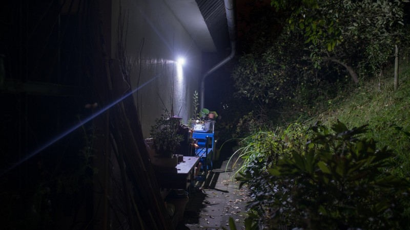 Cozypony Solarleuchte mit Bewegungsmelder Test Review Bericht outdoor Beleuchtung Lampe Solar Akku