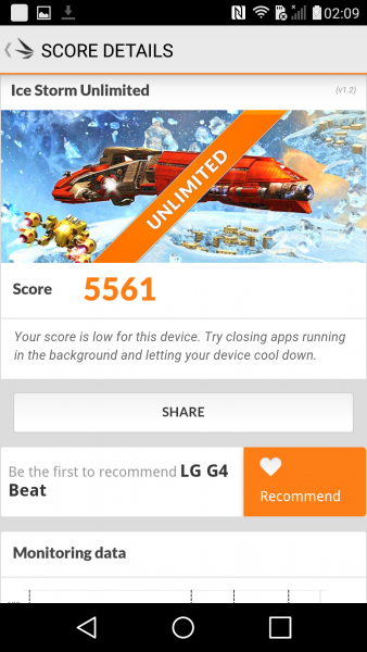 Das LG G4s im Benchmark Parkour 3DMark Ice Storm Unlimited Benchmark S615 (1)
