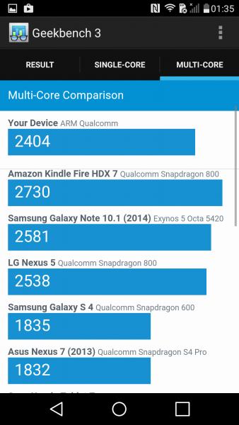 Das LG G4s im Benchmark Parkour Geekbench Benchmark