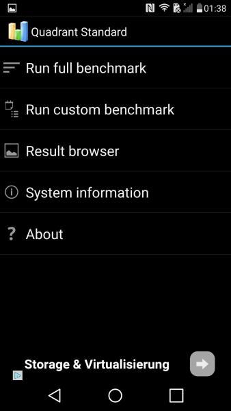 Das LG G4s im Benchmark Parkour Quadrant Standard Edition Benchmark S615