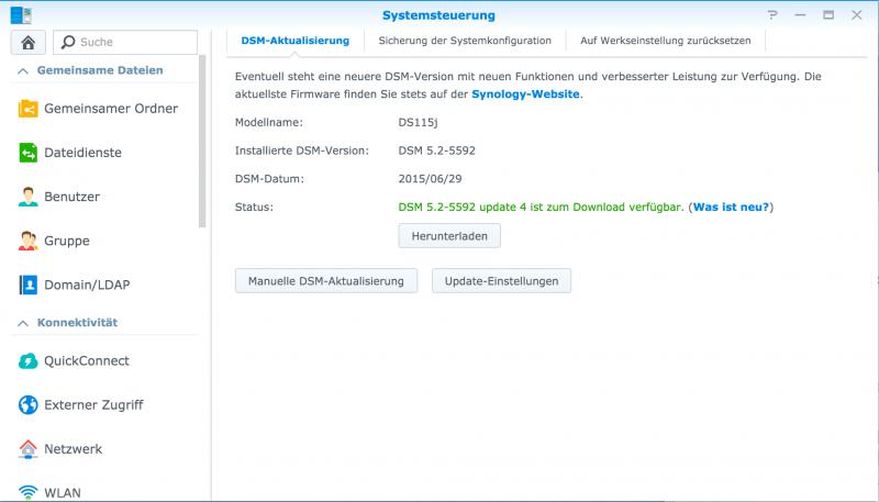 Synology DSM 6.0 Beta Installieren Software NAS