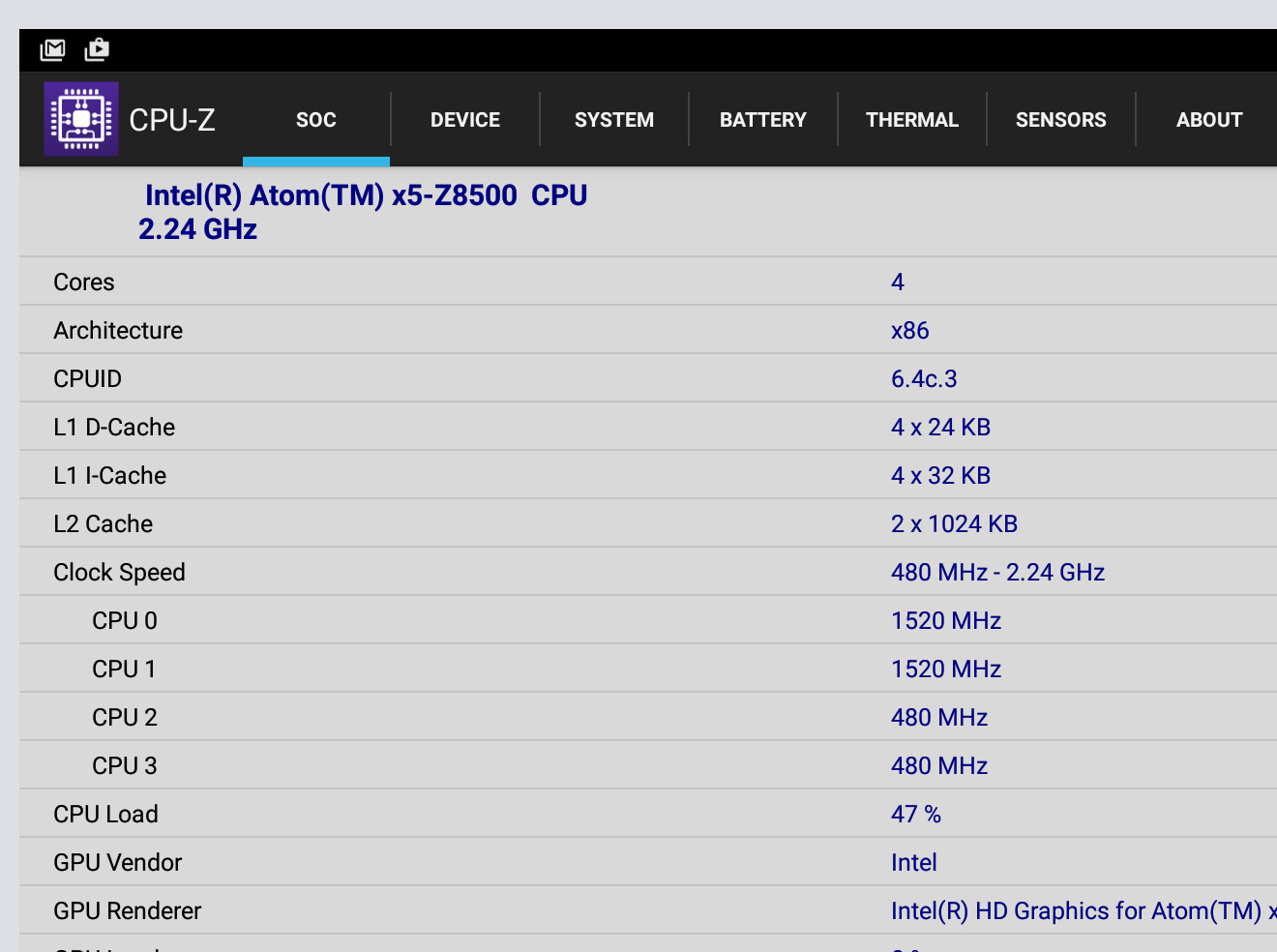 Intel Atom X5 Z8500 Vs Intel Atom Z3735f Unter Android