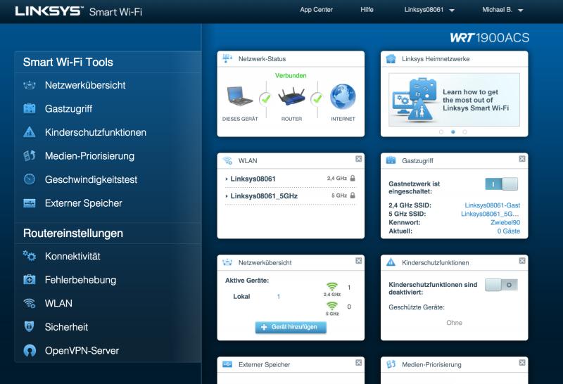 Linksys WRT1900ACS W-LAN Router mit OpenWRT im Test
