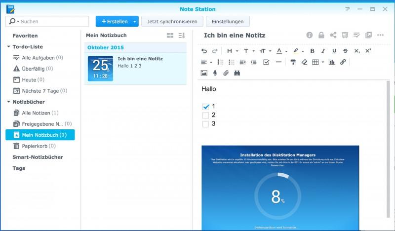 Synology DiskStation DS215+ NAS mit DSM 6.0 im Test Review Netzwerk Netztwerkfestplatte HDD Speicher