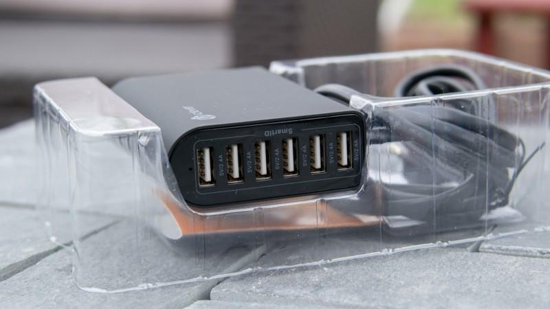 iClever 6-Port 50W 10A Desktop USB Ladegerät Test Review Schnelladegerät Netzteil