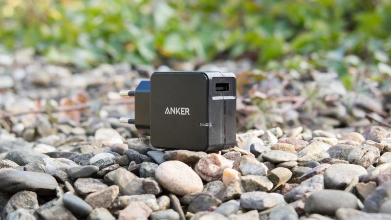 Anker QC 2.0 Ladegerät im Test Anker 18W 1-Port USB Ladegerät mit Qualcomm QC 2.0 Technologie Review Test Schnelladegerät
