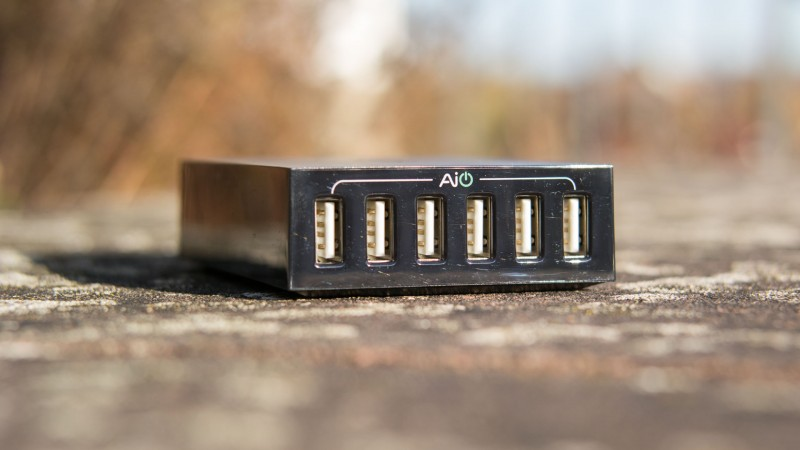 Aukey PA-U27 6-Port USB Ladegerät Test Review Schnelladegerät