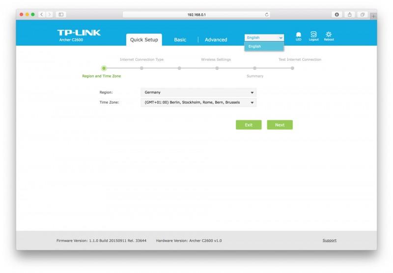 Der beste WLAN Router von TP-LINK im Test, TP-LINK Archer C2600 Benutzeroberfläche-5