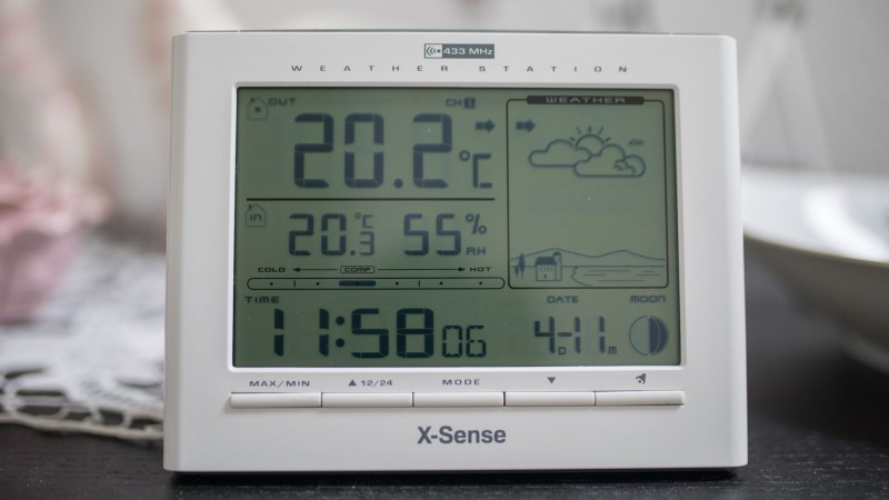 X-Sense Funk Wetterstation im Check-7