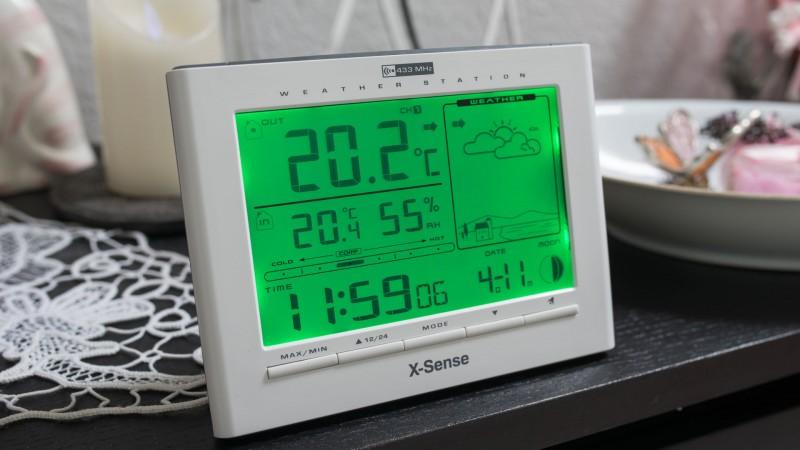 X-Sense Funk Wetterstation im Check-8