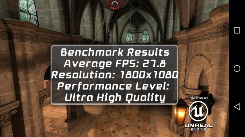 Epic Citadel benchmark des Wiko Fever