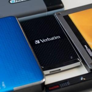 Günstige externe SSD von Verbatim im Test, die Verbatim VX450