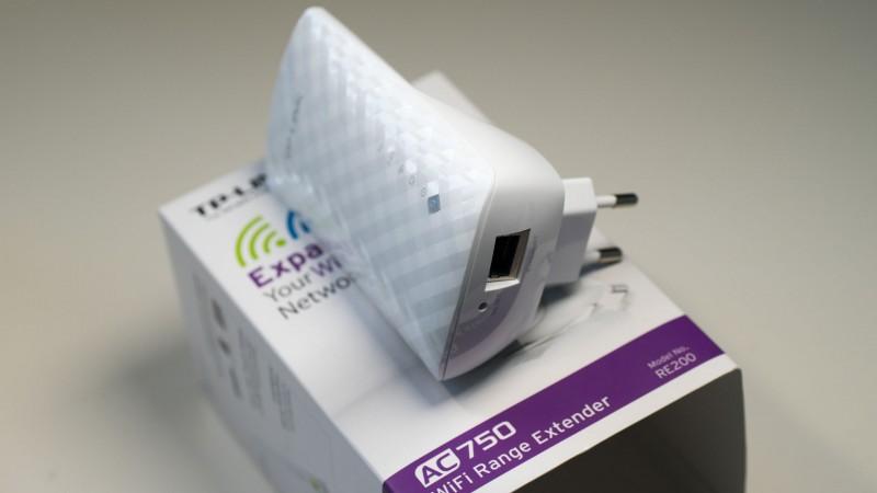 Günstiger WLAN Repeater mit 5GHz und ac Support im Test, der TP-LINK RE200-4