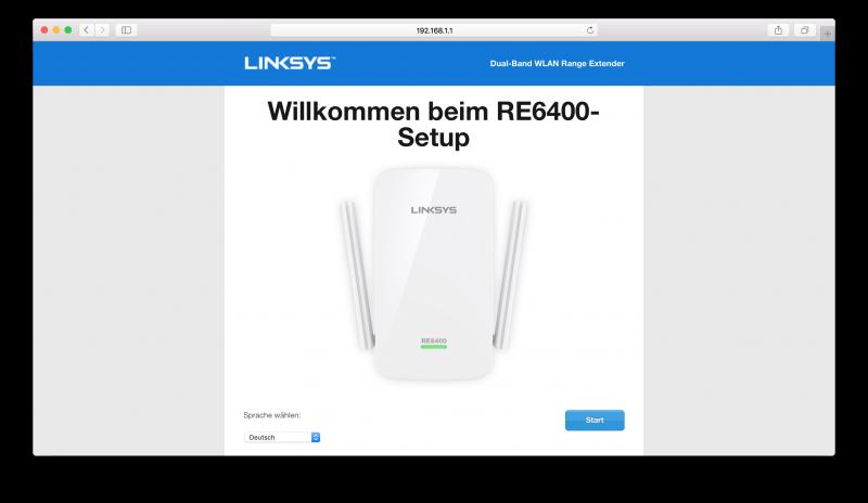Linksys RE6400 Benutzeroberfläche Test (2)