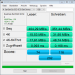 Sandisk Extreme 500 Benchmarks AS SSD