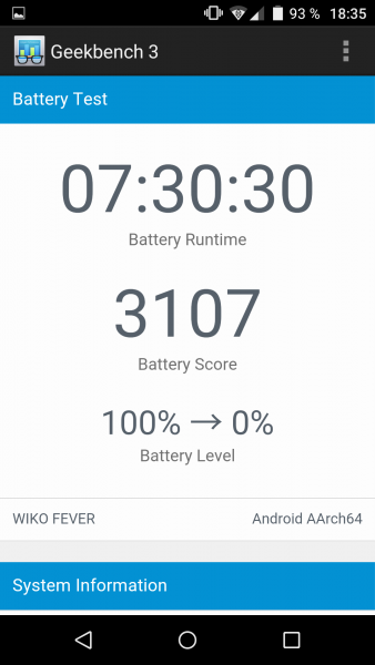 Wiko Fever 4G Test Review Benutzeroberfläche Android (62)