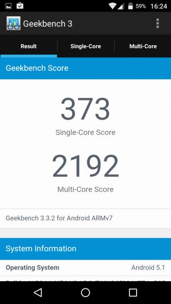 Geekbench 3 Wiko Pulp im Test review das Perfekte Budget Smartphone Geekbench 3