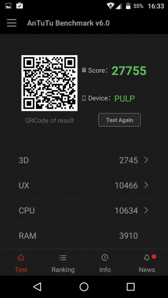 Antutu 6 Wiko Pulp im Test review