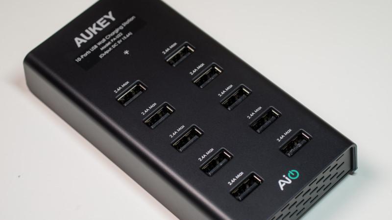 AUKEY PA-U22 Ladegerät mit 10 USB Ports Test Review-13