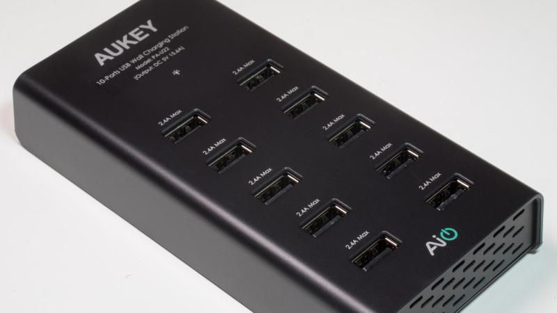 AUKEY PA-U22 Ladegerät mit 10 USB Ports Test Review-17