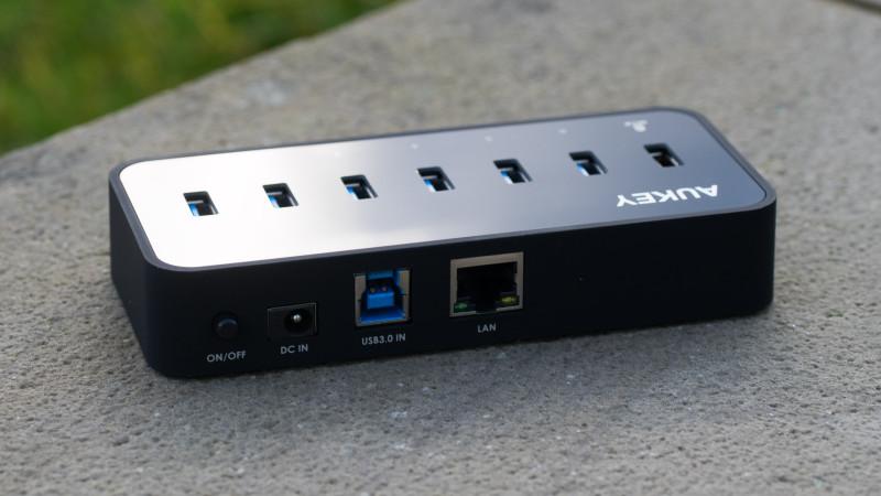 Aukey USB 3.0 HUB mit LAN Anschluss und 6 USB Ports im Test, ideal für MacBooks oder Ultrabook-13