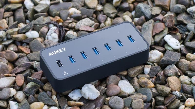 Aukey USB 3.0 HUB mit LAN Anschluss und 6 USB Ports im Test, ideal für MacBooks oder Ultrabook-14